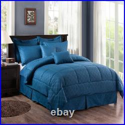10 Piece Comforter Set Complete Bed in a Bag Comforter Bedding Set Cal King