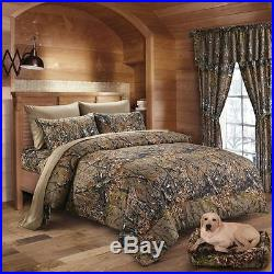 12 Pc Set! Brown Camo Queen Size Comforter Sheet Curtain Camouflage Bedding