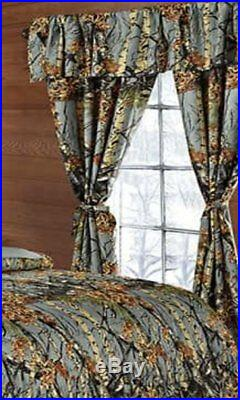 12 Pc Set Gray Camo Queen Size Grey Comforter Sheet Curtain Camouflage Bedding