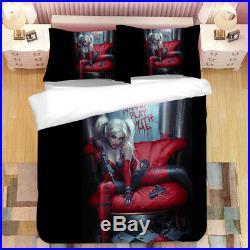 3D Sexy Harley Quinn Bedding Set Duvet Cover Pillowcase Without Comforter/Quilt