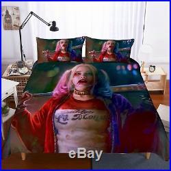 3D Suicide Squad Harley Quinn Duvet Cover Comforter Cover Kids Anime Bedding Set