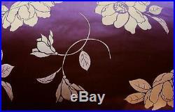 3 pcs100% mulberry silk Queen Duvet comforter cover set 86x86Dream plum floral