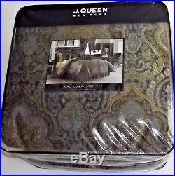 4PC J Queen New York VENEZIA King Comforter Shams Bedskirt Set