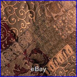 4 Pc Croscill GALLERIA RED Queen Comforter Set Brand New