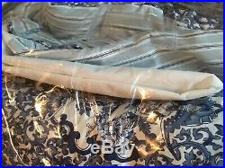4p Ralph Lauren TAMARIND BIRD FLORAL BLUE Porcelain QUEEN COMFORTER BEDSKIRT Set