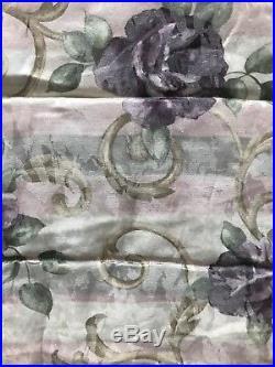 4pc Croscill Full/Queen Comforter Set Bedskirt Shams Amethyst Chambord Cassis