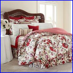 4pc RALPH LAUREN CHAPS Sarah QUEEN Comforter Bedding Set RED GREEN PURPLE NWT