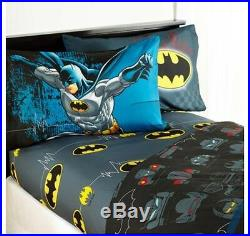 5pc BATMAN Full-Double COMFORTER+SHEETS SET Bed in a Bag Room BAT SIGNAL Bedding