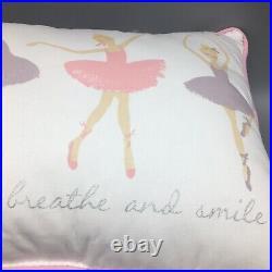 5pc Nicole Miller Ballet FULL QUEEN Set Comforter Pillows Dance Hearts Love Pink