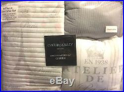 6pc Cynthia Rowley Paris Eiffel Tower QUEEN Comforter Set Pillow Coverlet Sham
