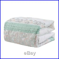 7 Piece Luxury Embroidery Microfiber Comforter Set Bed In A Bag, Queen Size, Fahey