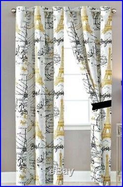 7 piece French Eiffel Tower Bonjour Luxury Comforter Set 2 Colors