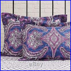 ALL SIZES Grace Medallion Purple Bed in a Bag Comforter Sheets Set Bedding