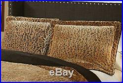 Animal Print Bedding Cheetah Comforter Set Queen Size Oversized Reversible NEW