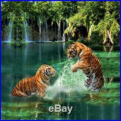 Animal Tiger Forest Duvet Cover Set Comforter Queen King Size Bedding Set 3Pcs