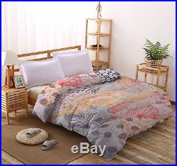 Anthropologie Quilt Cotton Blanket Queen Size Quilt Comforter Indian Duvet Set