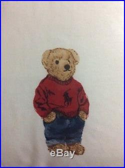 BRAND NEW Ralph Lauren Polo Teddy Bear FULL/QUEEN Comforter SET with 2 Shams