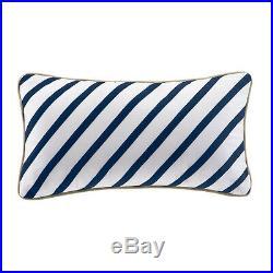 Beautiful 4 Pc Modern Nautical Blue White Tan Stripe Comforter Set & Pillow New