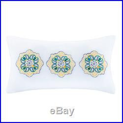 Beautiful Blue Teal White Aqua Yellow Floral Beach Bright Tropical Comforter Set