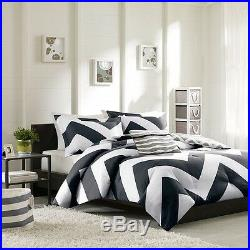 Beautiful Modern Blue Teal Aqua White Chevron Sport Stripe Soft Duvet Cover Set