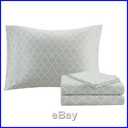 Beautiful Modern Chic Contemporary Reversible Grey White Comforter Set & Sheets