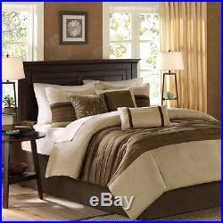 Beautiful Modern Elegant Brown Beige Texture Soft Comforter Set Queen & King