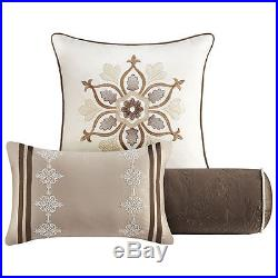 Beautiful Modern Elegant Chic Beige Taupe Tan Brown Ivory White Comforter Set