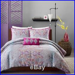 Beautiful Modern Grey Purple Pink Blue Aqua Teal Tropical Bohemian Comforter Set