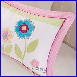 Beautiful Reversible Purple White Pink Butterfly Flower Girl Soft Comforter Set