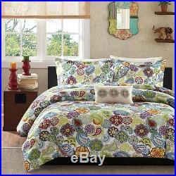 Beautiful Ultra Soft Aqua Blue Green Red White Modern Purple Retro Comforter Set