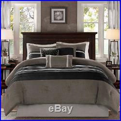 Beautiful Ultra Soft Luxurious Modern Elegant Brown Beige Khaki Comforter Set