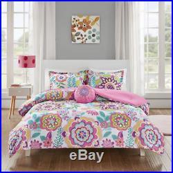 Beautiful Ultra Soft Modern Chic Soft Pink Blue Aqua Purple Girls Comforter Set