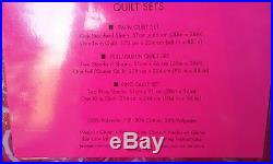 Betsey Johnson 3pc Full/Queen Size Roses Quilt Set NWT