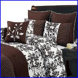Bliss Chocolate Ultra Soft Bedding Set, Luxury 8-PC 100% Polyester Comforter Set
