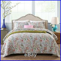 Botanical Garden 100% Cotton Coverlet Bedspread Comforter Bedcover Set 3pcs