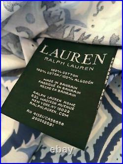 Brand New Ralph Lauren Queen 4 Piece Comforter Set Crayford Paisley