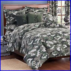 Browning Buckmark Green Camo Comforter Set & SheetsBed in BagTwin Full Queen