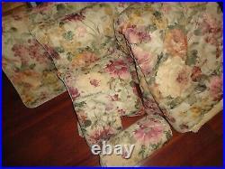 Burlington Monaco Burgundy Floral Hydrangea (6pc) Queen Comforter Set