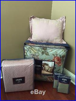 Chaps BRITTANY 8-pc QUEEN Comforter Bedskirt Shams Coverlet Pillow Euro Set NWT