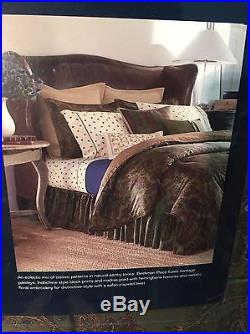 Chaps Ralph Lauren Beekman Place Green Paisley Plaid Queen Comforter Set