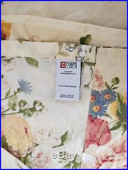 Chaps Ralph Lauren Dylan Floral Striped Duvet Comforter 4 pc set Valance shams