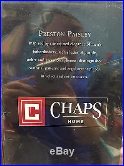 Chaps Ralph Lauren Preston Paisley Amp Striped Purple Queen