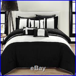 Chic Home 10-Piece Fiesta Bed-In-A-Bag Comforter Set Queen Black