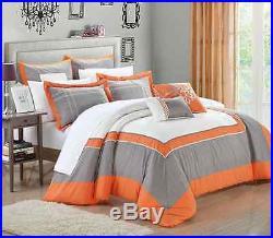Chic Home 7-Piece Ballroom Comforter Set, Queen, Orange