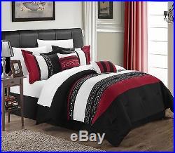 Chic Home Carlton 6-Piece Comforter Set Queen Size Black