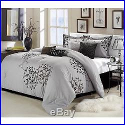 Chic Home Cheila 8-Piece Comforter Set Queen Silver