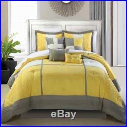 Chic Home Dorchester 8-Piece Comforter Set, Queen, Yellow