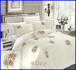 Chic Home Rosetta 5-Piece Comforter Set Queen Beige off-white