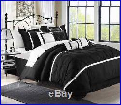 Chic Home Vermont 8-Piece Comforter Set, Queen, Black/White