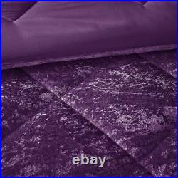 Chic Solid Purple Lush Velvet Comforter Set AND Decorative Pillow